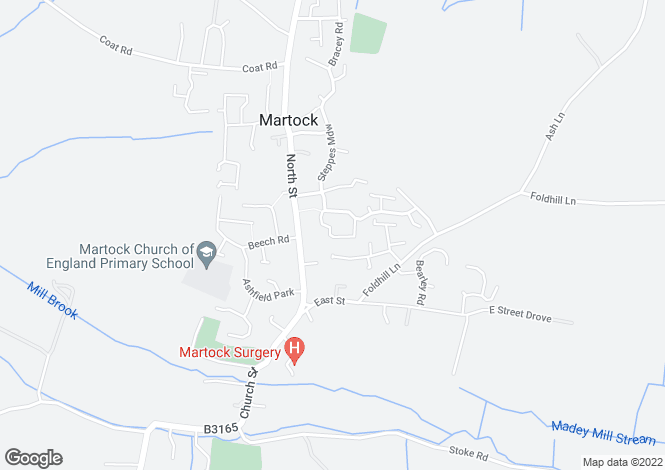 Map for Vincents Way Martock Martock TA12