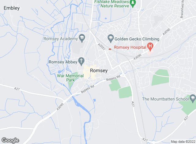Map for Morris Dibben, Romsey