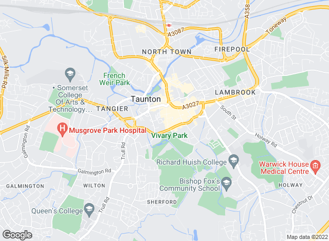 Map for Hallam & Co Property Services, Taunton
