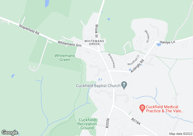 Map for Manor Drive, Cuckfield
