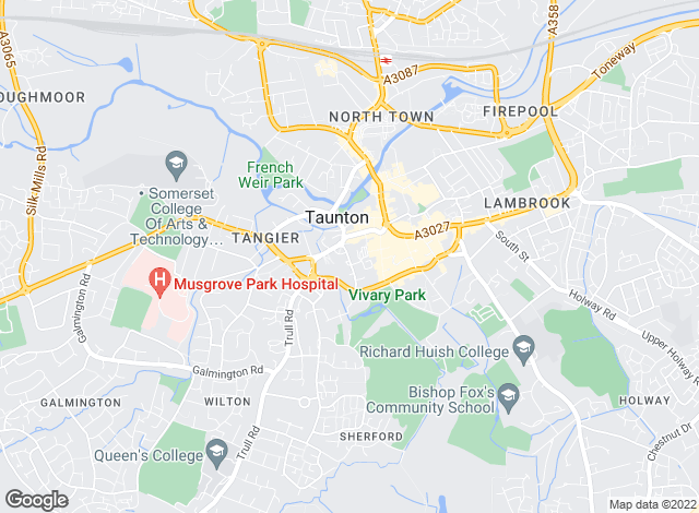 Map for Orbital Property Asset Management, Taunton