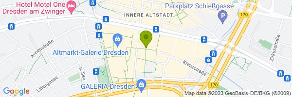 Standort Dresden-Information auf dem Strie...