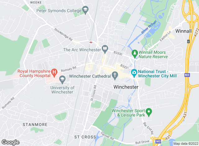 Map for Penyards Property Management, Winchester
