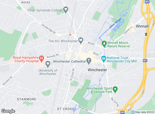 Map for Jackson-Stops & Staff, Winchester