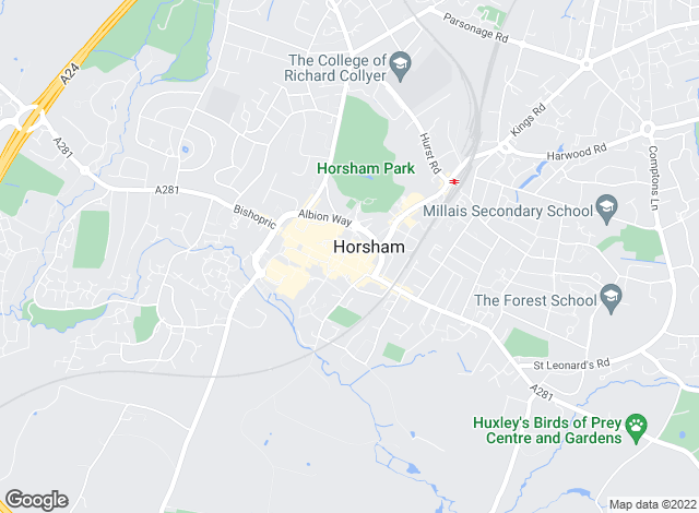 Map for Courtney Green, Horsham