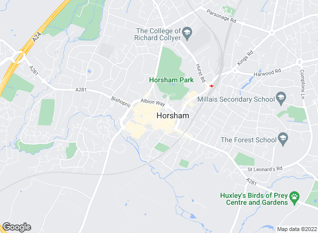 Map for Fox & Sons - Lettings, Horsham - Lettings