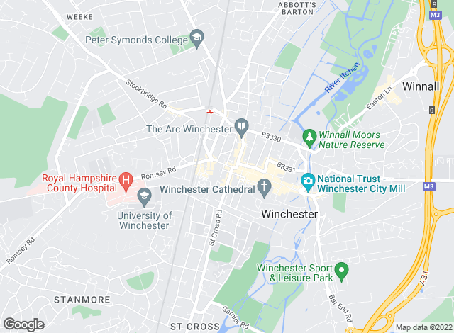 Map for Hamptons International Sales, Winchester