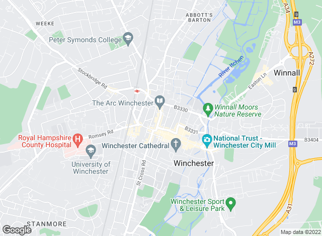 Map for Martin & Co, Winchester - Lettings & Sales