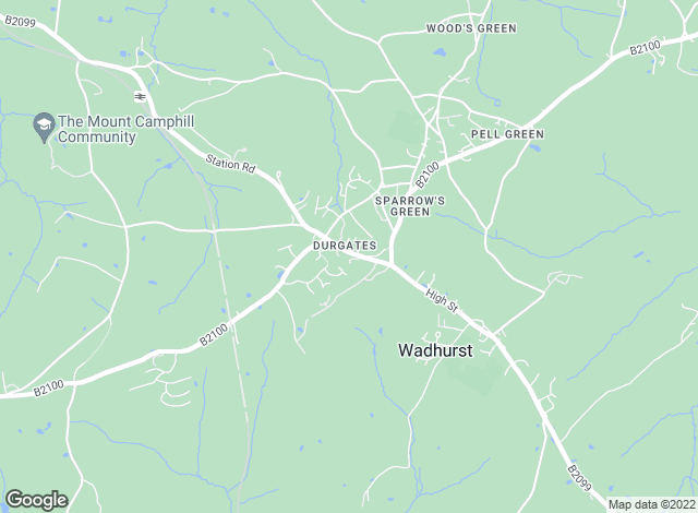 Map for Chesterton Humberts Sales, Wadhurst