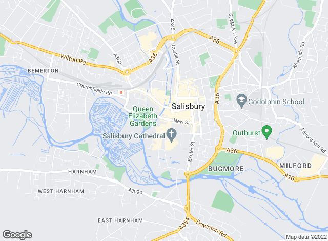 Map for Symonds & Sampson, Salisbury