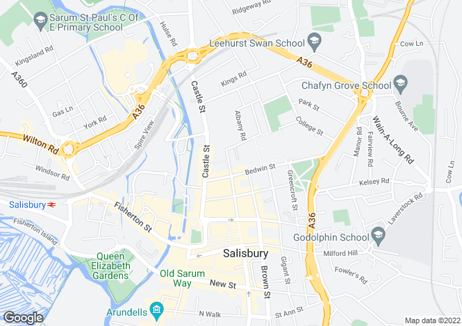 Map for SALISBURY, Endless Street