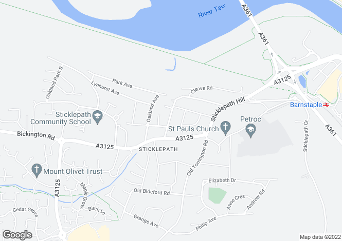 Map for Beechwood Avenue, Sticklepath