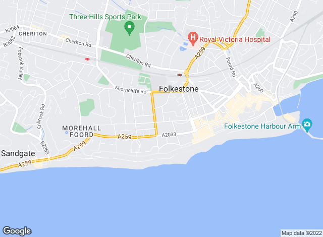 Map for Geering & Colyer, Folkestone