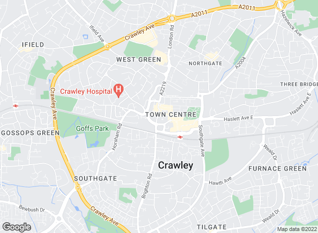Map for Mansell McTaggart, Crawley
