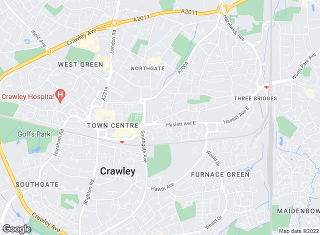 Map for Blakemore & Sons, Crawley