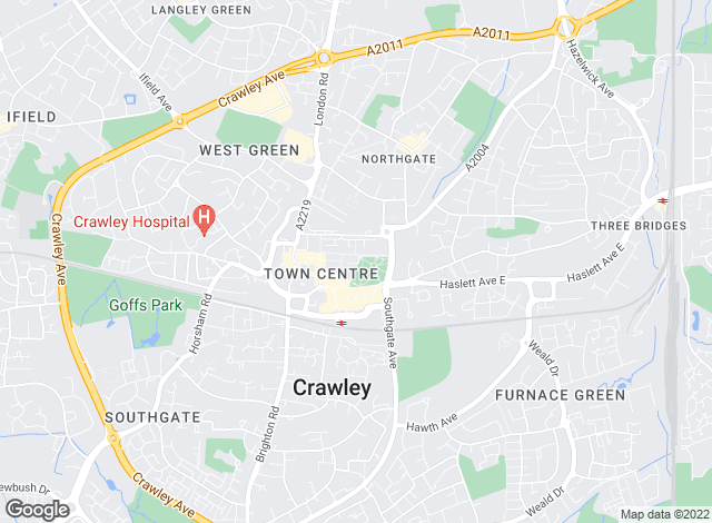 Map for Northwood, Crawley