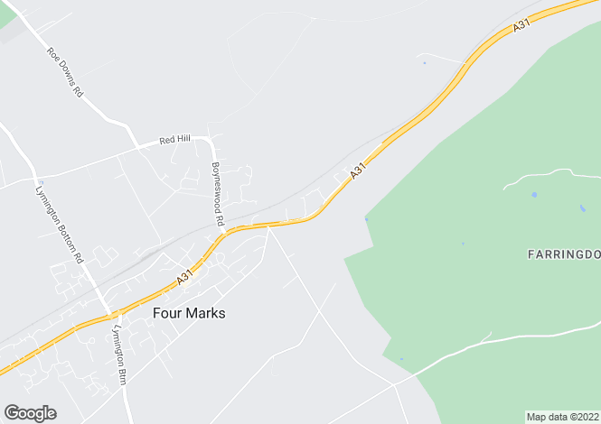 Map for Four Marks, Hampshire, GU34 5BJ