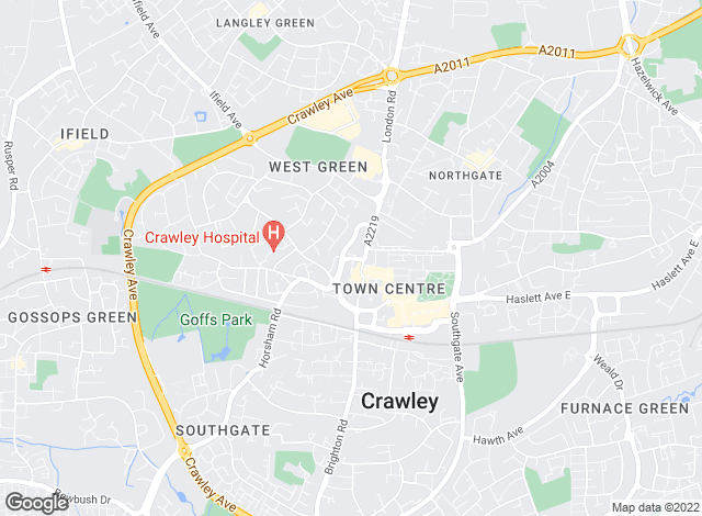 Map for Taylor Robinson, Crawley