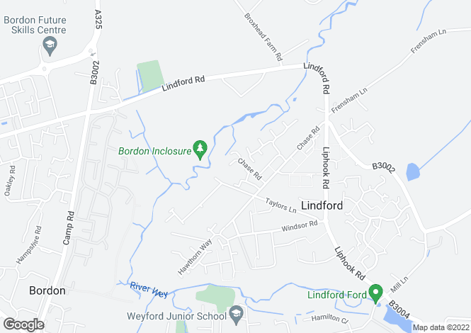 Map for Chase Road,