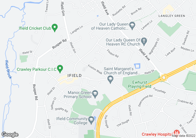 Map for Woodbridge at The Martlets, Friston Walk,