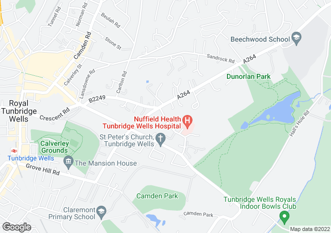 Map for Kingswood Road Tunbridge Wells