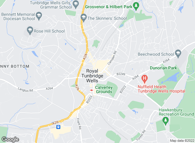 Map for TW Property, Tunbridge Wells