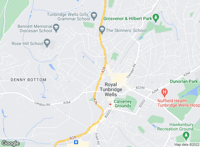 Map for Alexandre Boyes, Tunbridge Wells