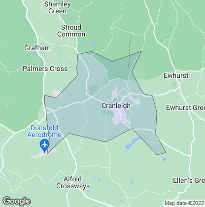 Map of property in Cranleigh