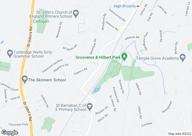 Map for Upper Grosvenor Road, Tunbridge Wells