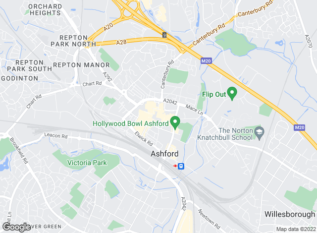 Map for Advanced Lettings, Ashford