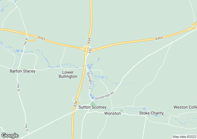 Map for Norton Cottages, Norton, Sutton Scotney, Winchester, SO21
