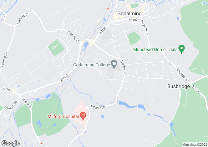 Map for Admiral Way, Busbridge, Godalming, Surrey, GU7