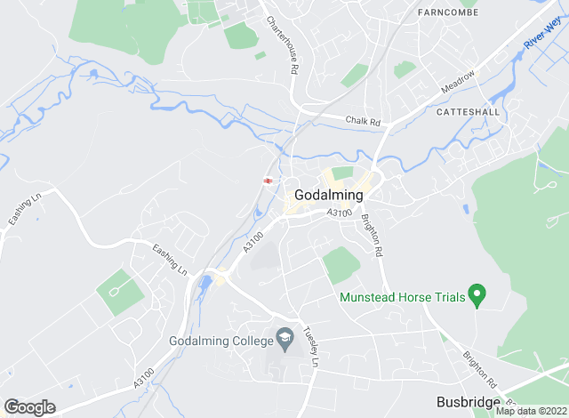 Map for Surrey & Hampshire, Godalming