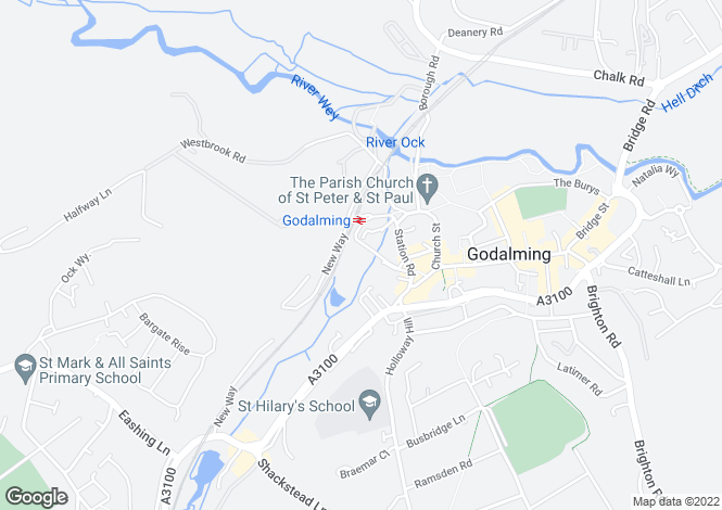 Map for GODALMING, Surrey