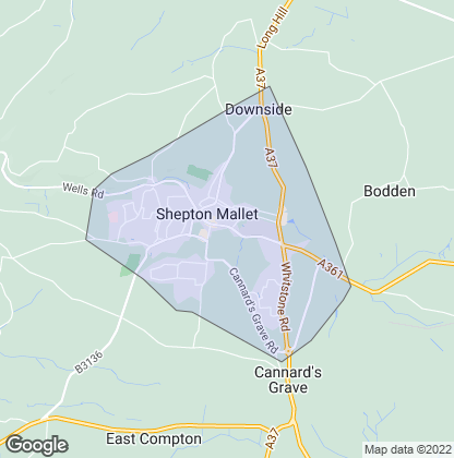 Map of property in Shepton Mallet