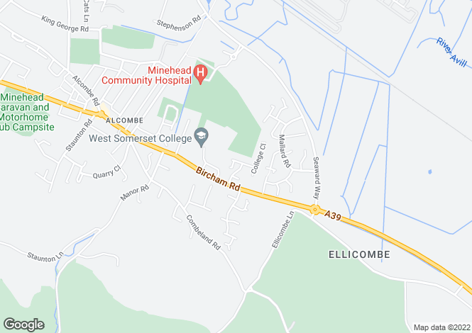 Map for The Shires, Alcombe