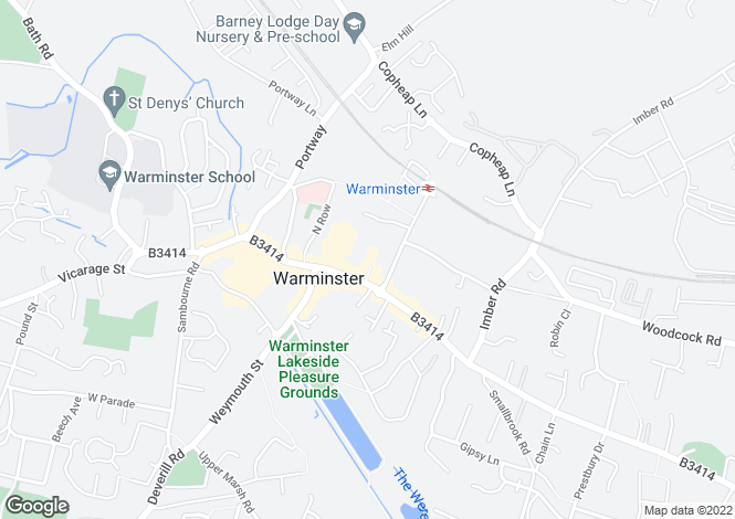 Map for The Cornmarket, Warminster