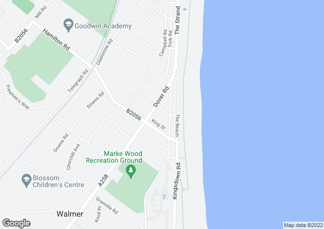 Map for Cambridge Road, Walmer, Deal CT14