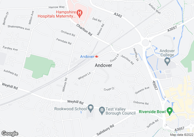 Map for The Avenue, Andover