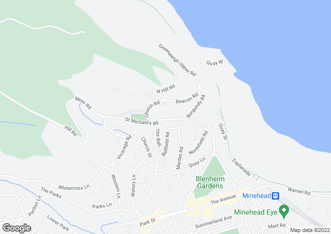 Map for Minehead, Minehead, Somerset, TA24