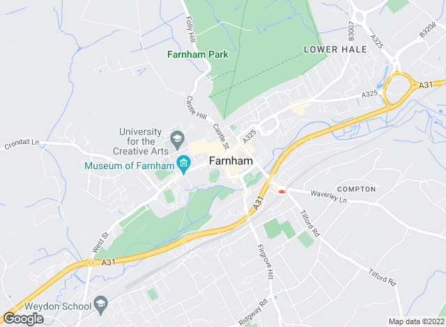 Map for Warren Powell-Richards, Farnham
