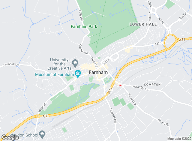 Map for Carson & Co, Farnham