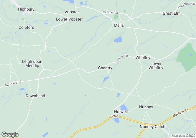 Map for Chantry, Frome