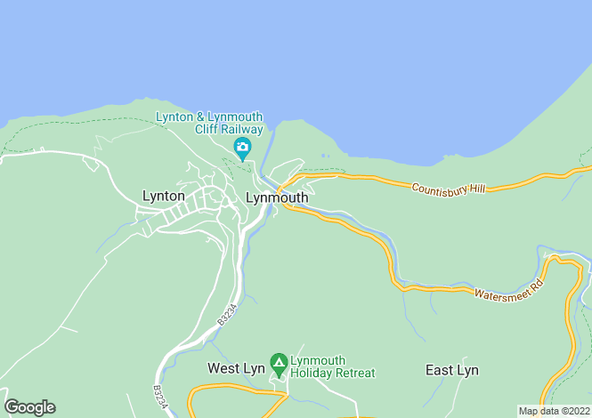Map for 9 Watersmeet Road, LYNMOUTH, Devon