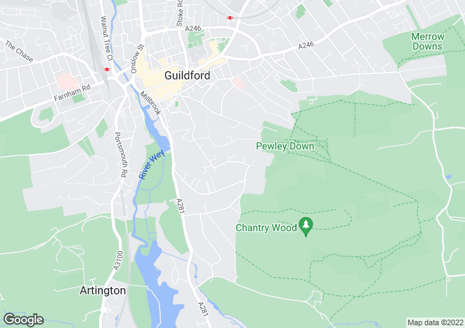 Map for Warwicks Bench Road, Guildford