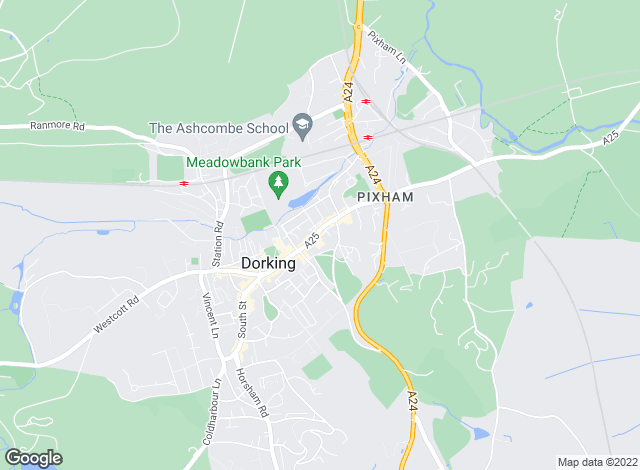 Map for Gascoigne-Pees, Dorking
