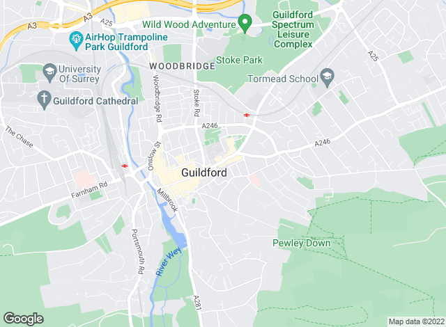 Map for Savills Lettings, Guildford