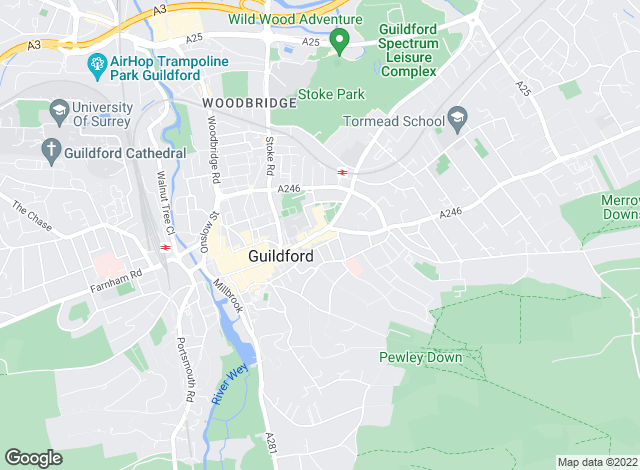 Map for Howard Morley & Sons, Guildford