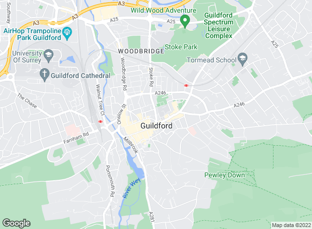 Map for Hamptons International Sales, Guildford