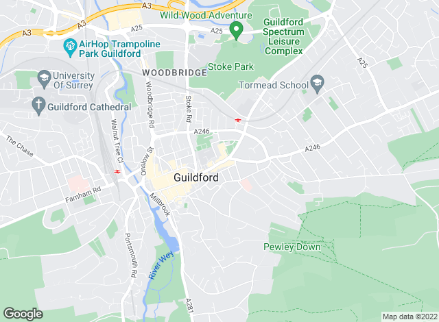 Map for Knight Frank - New Homes, Guildford